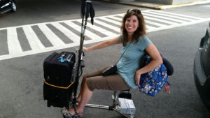 at the airport with mobility scooter