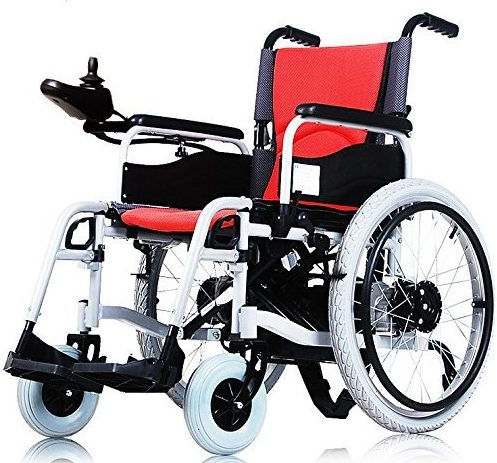 Aluminum alloy portable power wheelchair