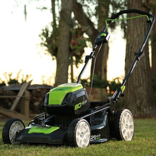 Greenworks 2500402 Cordless Battery Lawn Mower 21