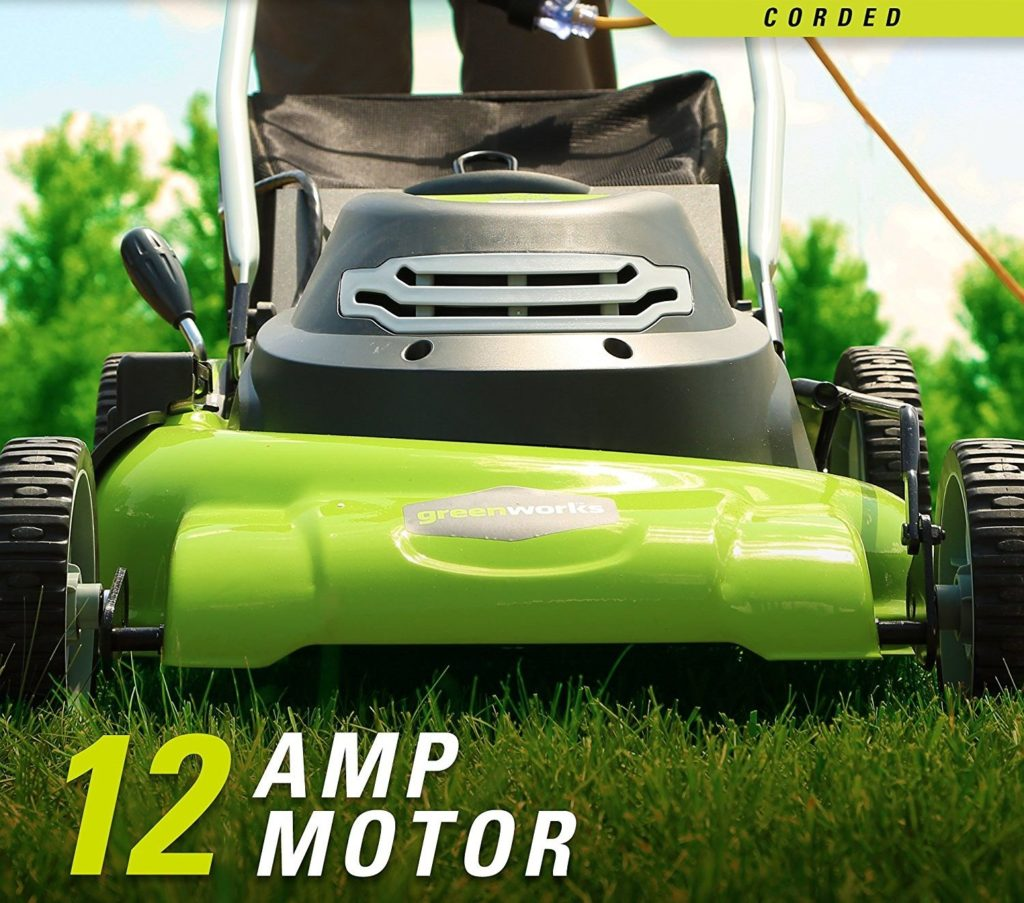 Greenworks 25022 corded mower