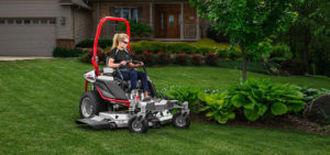 Zero turn mowers are great for mowing around obstacles